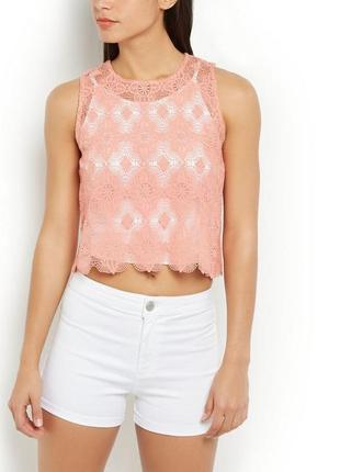 Изумительная укороченная кружевная блуза от new look