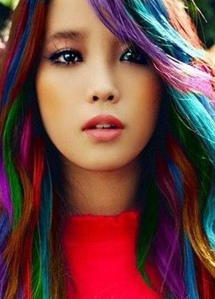 Цветная пудра (мелки) для волос hot huez комплект 4 шт