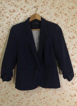Стильный синий  жакет пиджак от atmosphere