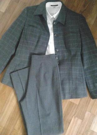 Роскошный костюм,брюки,пиджак,шерсть,стиль и качество caractere