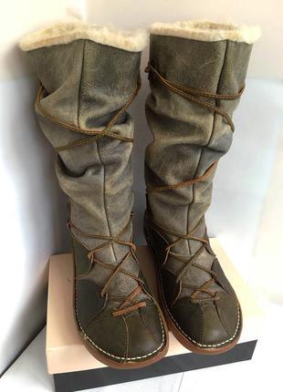 Сапоги кожаные осенне/зимние, на шерстяном утеплителе, качественные, 40 размер.