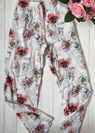 Пижамные домашние лёгкие коттоновые штаны большой размер 16-18 xxl 3xl коттон 100%