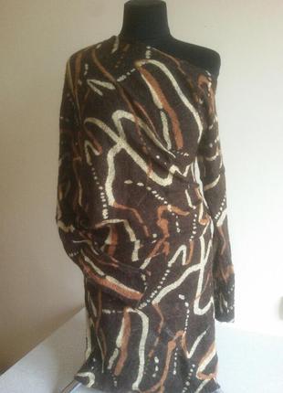 Платье коричневое трикотажное