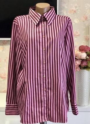Полосатая рубашка большого размера, батал jacques britt