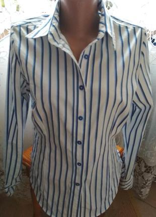 Полосатая рубашка сорочка marks&spencer
