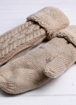 Варежки на теплом  на плюше деми/ зима