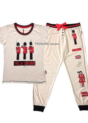 Женская трикотажная пижама london л primark
