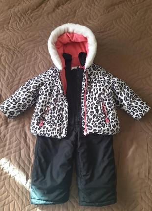 Зимний раздельный комбенизон и курточка carters / размер 24 м