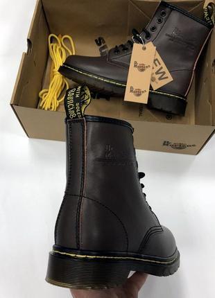 Ботинки dr. martens коричневые топ качество!3