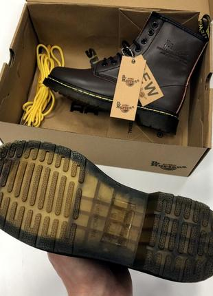 Ботинки dr. martens коричневые топ качество!4