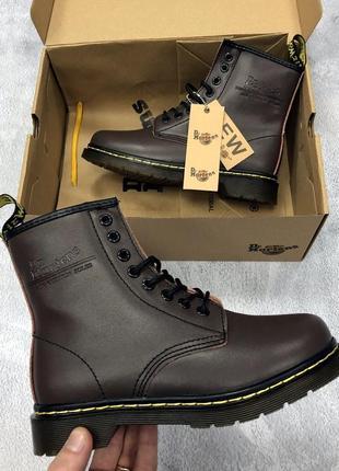 Ботинки dr. martens коричневые топ качество!