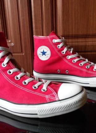Оригинальные кеды converse red 44 состояние супер ботинки vans