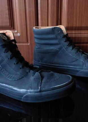 Кеды vans all black hi top skate 43 хайтопи converse ботинки