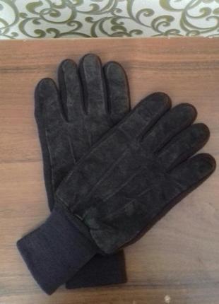 Новые замшевые мужские перчатки