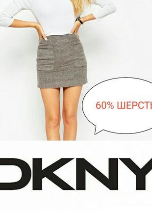 Теплая шерстяная юбка dkny