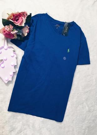 Шикарная новая футболка ralph lauren с биркой! оригинал! с-м размер