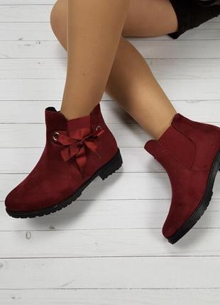 Новые красные зимние ботинки размер 36-41