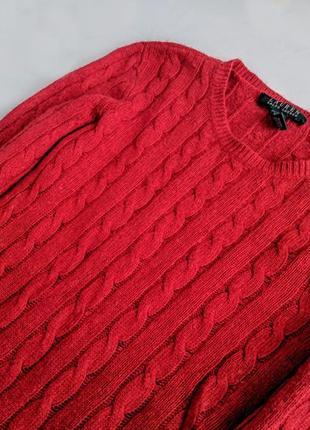 Шикарный свитер ralph lauren шерсть+кашемир