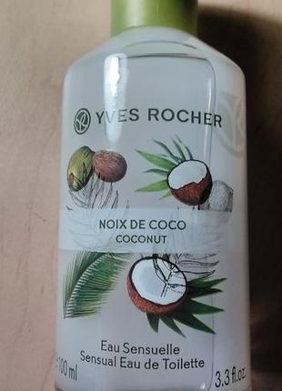 Туалетная вода кокосовый орех, кокос 100 мл yves rocher