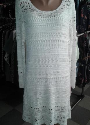 Ажурное вязаное платье от h&m