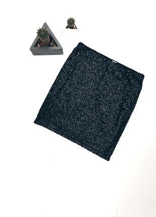 Шикарная новая юбка в паетках s-m размер h&m