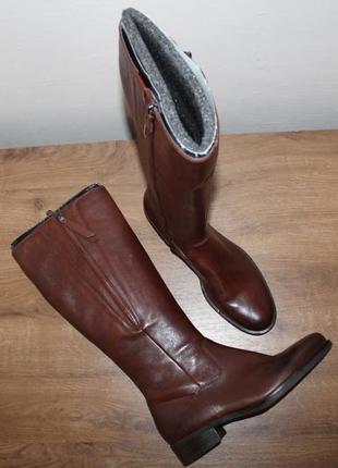 Комфортные кожаные сапоги ecco adel, оригинал