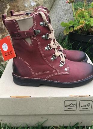 Новые детские ботинки ecco - 30 р. ( 18,5 см ) полусапоги сапоги сапожки кожаные