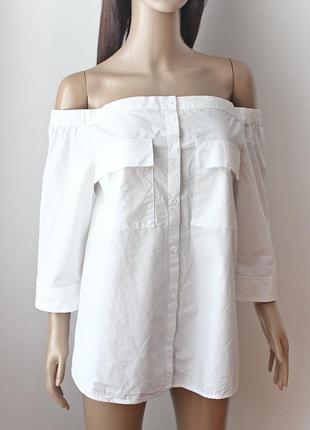 Крутейшая рубашка с открытыми плечами next • р-р l