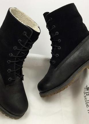 Timberland (original) женские ботинки на меху зима натуральная кожа замша 38 размер