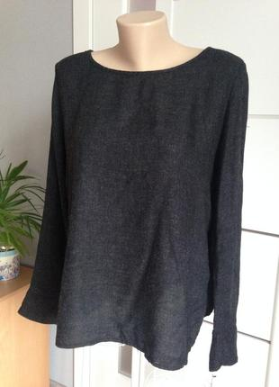 Блуза кофточка серо-черная в идеале