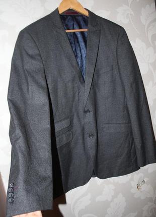 Брендовый пиджак темно - серый burton