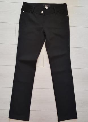 Утепленные черные брюки