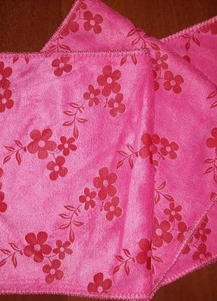 Полотенце кухонное 26 х 49 микрофибра розовое турция