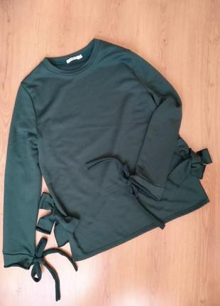 Удлинененный свитер с завязками от sweewe