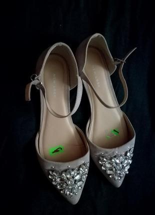 Продам нереально крутые балетки с ремешком от new look.новые.38 р-р