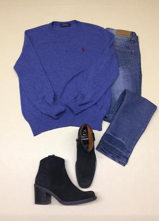 Шерстяной обьёмный свитер 100% шерсть мериноса