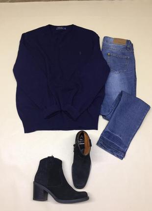 Шерстяной обьёмный свитер из шерсти мериноса 100%
