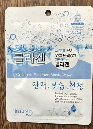 Тканевая маска с коллагеном natureby collagen essence mask sheet