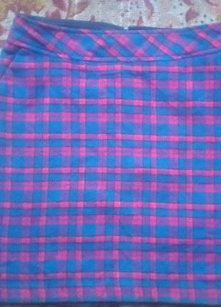 Mar collection шерсть юбка с карманами.