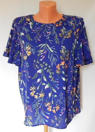 Блуза primark в цветочный принт(размер14)