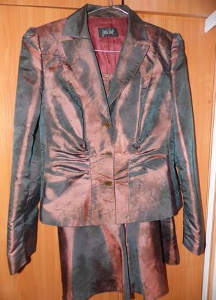 Дизайнерский костюм двойка jean paul gautier размер 38