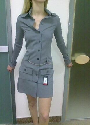 Шерстяное платье patrizia pepe рубашечный крой р 42