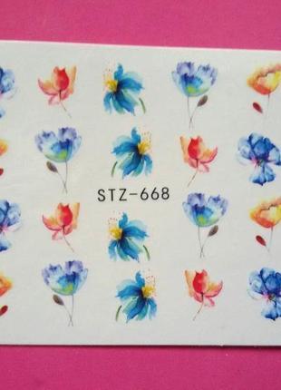 Слайд дизайн, наклейки для ногтей №668 в наличии