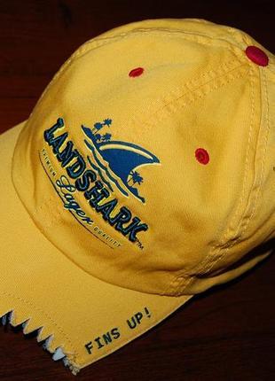 "Кепка- бейсболка landshark ( ""страна акул"") , серфинг, (на окр. гол. 58 см. +/- 3 см.)"