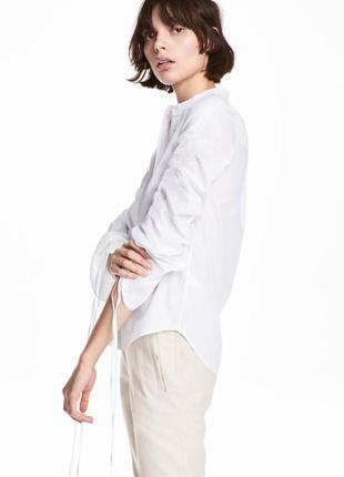 Хлопковая рубашка с кулиской h&m
