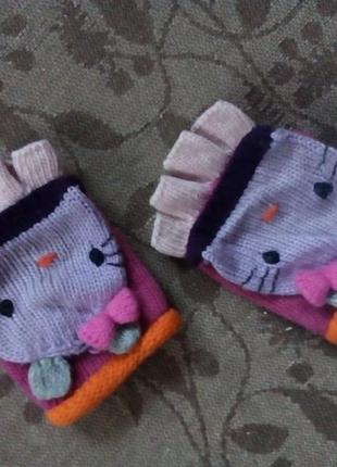 Ангоровые митенки, рукавички, варежки