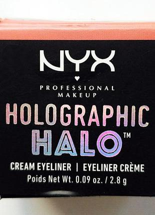 "Подводка для глаз/кремовые тени nyx holographic halo cream eyeliner ""paralisade paradise"""