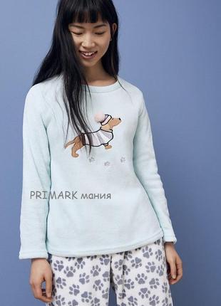Женская флисовая пижама такса primark