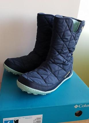 Зимние сапоги columbia 6y omni-heat waterproof boot на ножку 24-24,5 см.