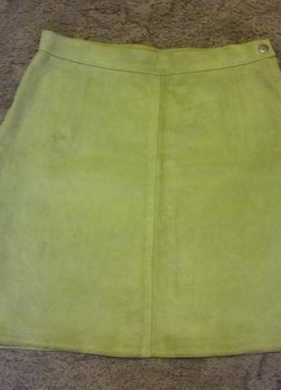 Фирменная кожаная юбка  размер xs